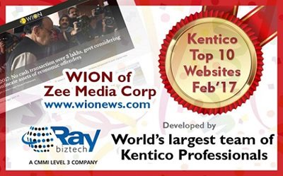 raybiztech wion kentico top10 site